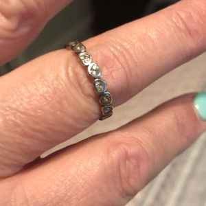Pandora sterling silver hearts ring